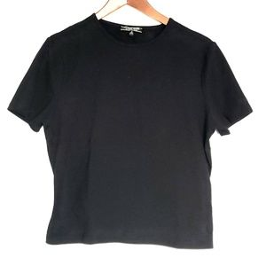 St. John Sport by Marie Gray Basic Black Tee Sz S
